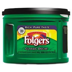 Folgers Ground Decaffeinated Coffee, 22.6oz Can (Case of 6 Cans)