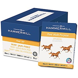 Hammermill Fore 20-pound Letter Multipurpose Paper (Case of 5,000 Sheets)