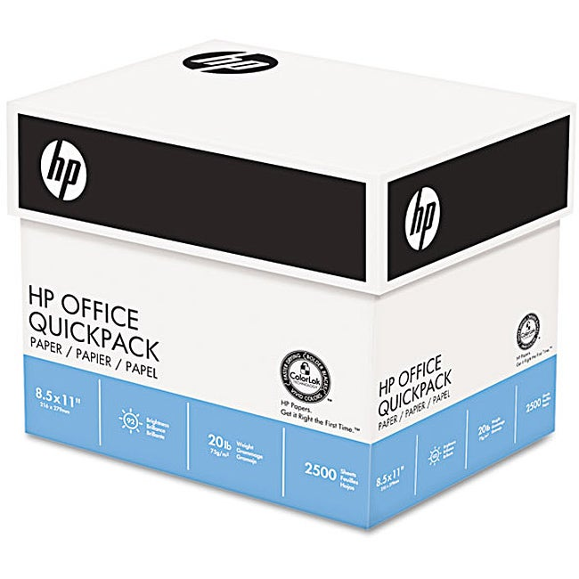 HP Quickpack Copy/Laser/Inkjet 20-pound Letter Paper (Pack of 2,500 Sheets)