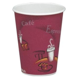 SOLO Bistro Design Hot 8 oz. Drink Cups  (Case of 1,000)