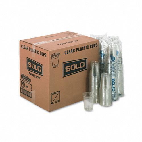 SOLO 12-oz Plastic Party Cold Drink Cups (Case of 1,000)