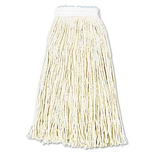 Boardwalk Premium Cut-End Wet Mop Heads, Cotton, 16oz, White, (Pack of 12)
