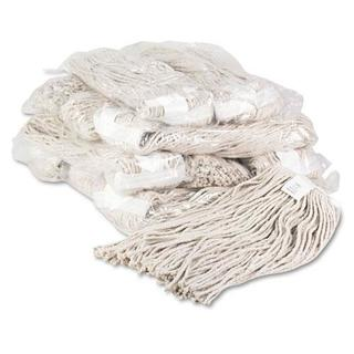 Boardwalk Premium Cut-End Wet Mop Heads, Cotton, 20oz, White, (Pack of 12)