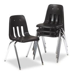 Virco 9000 Series Black/Chrome Plastic Stack Chair (Case of 4)