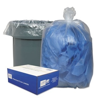 Webster Clear 30 Gallon Linear Low-Density Can Liners (Case of 250)