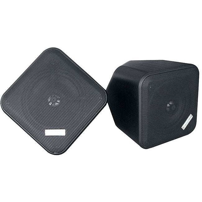 Pyle 5-inch Black Weatherproof Full-range 2-way Enclosed Speakers