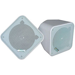 Pyle 5-inch White Weatherproof Full-range 2-way Enclosed Speaker
