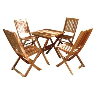 Havenside Home Surfside 5-piece Folding Bistro Set