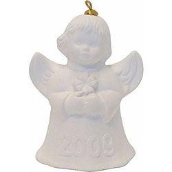 Goebel 2009 White Angel Bell Holiday Ornament