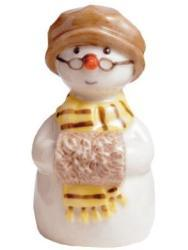 Royal Copenhagen Grandmother with Muff Snowman Figurine - Thumbnail 1