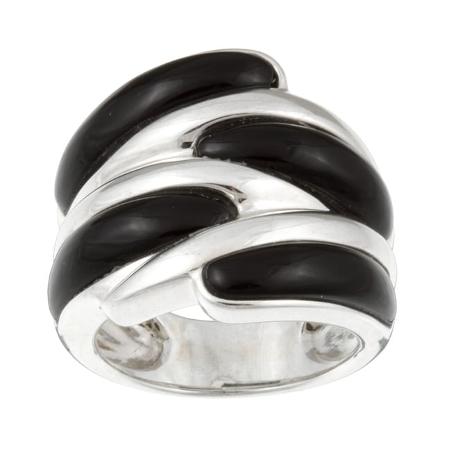 Kabella Sterling Silver Black Agate Ring