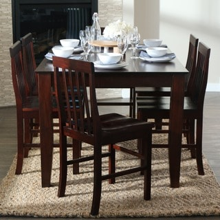 60 Inch Espresso Wood Dining Table