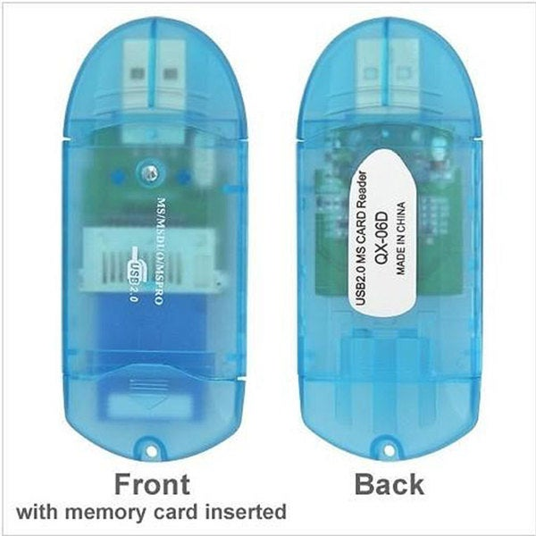 INSTEN Memory Stick Pro/ Pro Duo PHUBCRDRXX06 Clear Blue Adapter