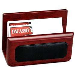 Dacasso Wood and Leather Business Card Holder