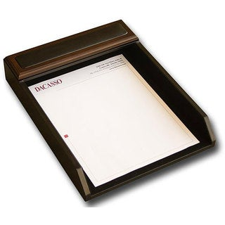 Dacasso 8000 Series Wood and Leather Front-Load Letter Tray