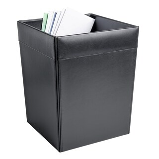 Dacasso 1000 Series Classic Leather Square Waste Basket