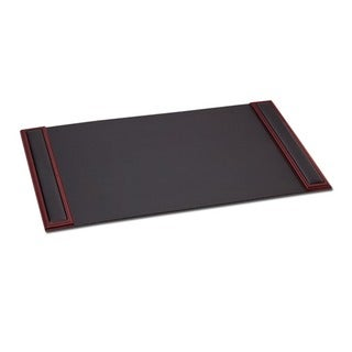 Dacasso 8000 Series 34 x 20-inch Wood and Leather Desk Pad