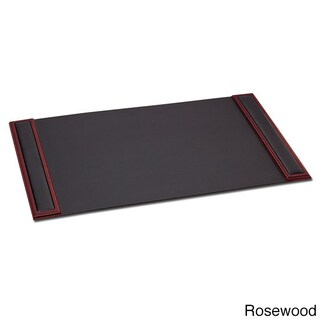 Dacasso 8000 Series 34 x 20-inch Wood and Leather Desk Pad (Option: Red)