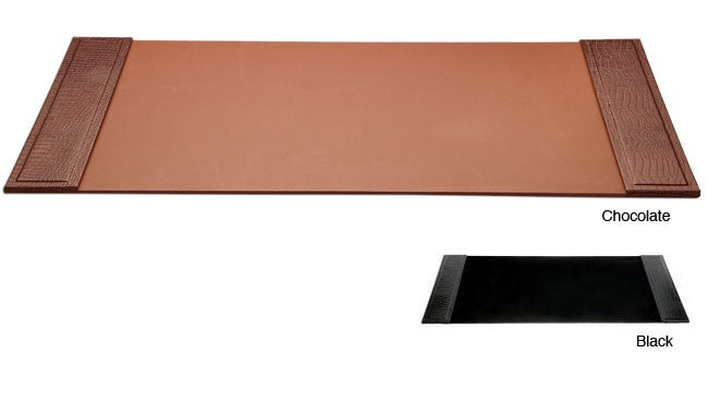 Dacasso Crocodile Embossed Leather Desk Pad With Side