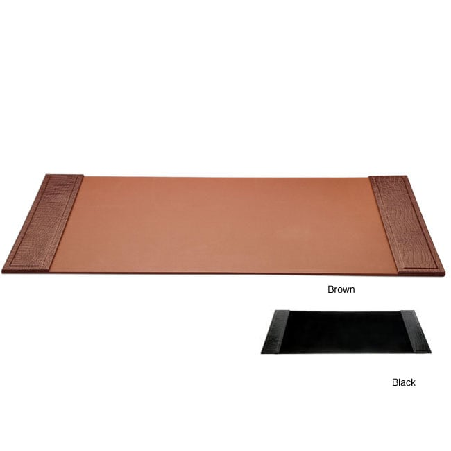 Dacasso Crocodile-Embossed Leather Desk Pad with Side Rails - Thumbnail 0