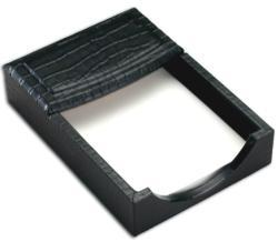 Dacasso Crocodile-Embossed Leather 4x6-inch Memo Holder - Thumbnail 1