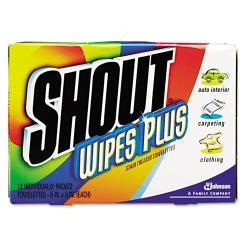 Shout Instant Stain Treater Wipes ( Case of 80)