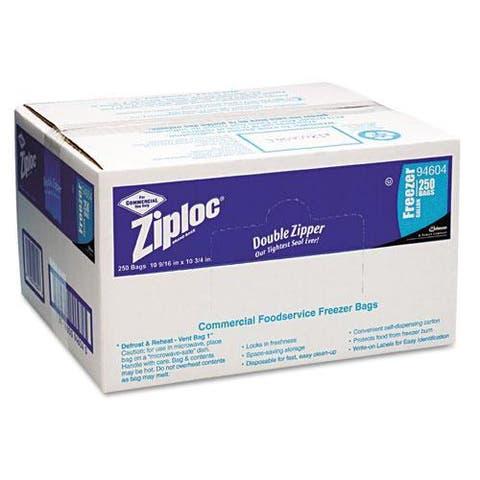 Ziploc Double Zipper Gallon Freezer Bags (Case of 250)