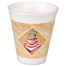 Dart Cafe G 8 oz Foam Hot/Cold Cups (Case of 1000)