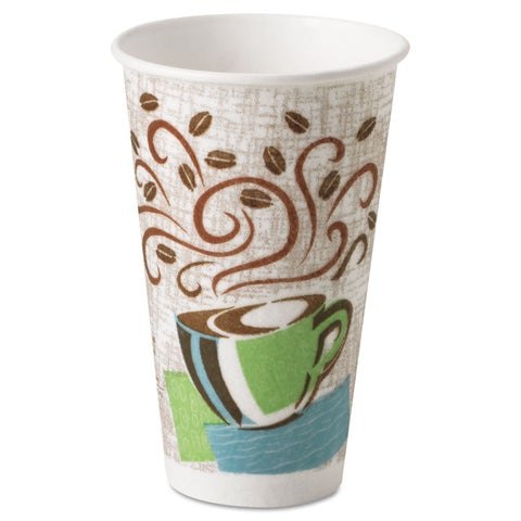 Dixie Coffee Dream Design PerfecTouch 16 oz Hot Cups (Case of 500)