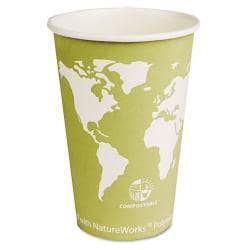 Eco-Products Compostable Eco 16 oz Paper Hot Cup (Case of 1000)
