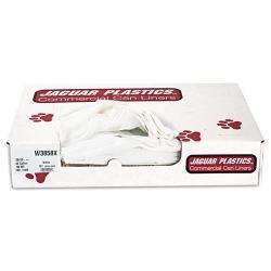 Jaguar Plastics 60 Gallon White Commercial Can Liners (Case of 100)