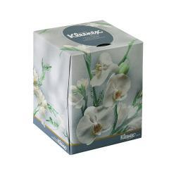 KLEENEX Boutique Floral Box 2-Ply White Tissue (Case of 36 Boxes)