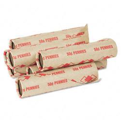 PM Preformed Paper Tubular Penny Coin Wrappers (Case of 1,000)