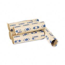 PM Preformed Paper Tubular Nickel Coin Wrappers (Case of 1,000)