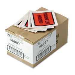 Full-Print Self-Adhesive Orange Packing List Envelope (Case of 1000)