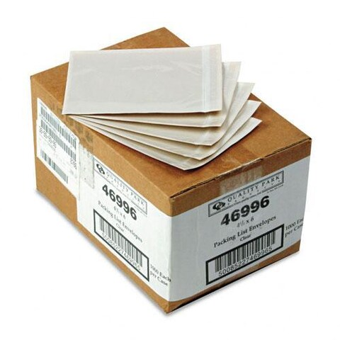 Clear Front Self-Adhesive Packing List Envelope (Case of 1000)