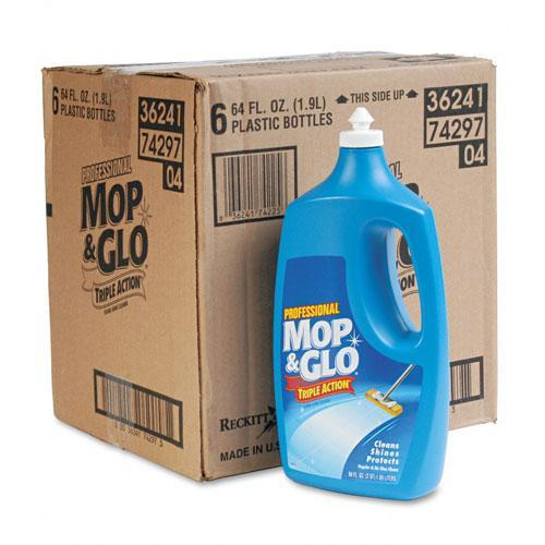 Shop Mop Amp Glo Triple Action Floor Shine Cleaner Case Of