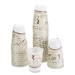 SOLO 10-oz Trophy Symphony Design Foam Hot/Cold Drink Cups (Case of 1,000)