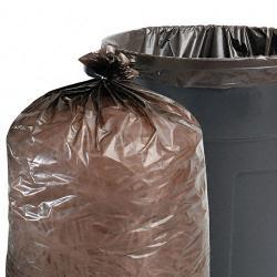 Stout Total Recycled Content 33-Gallon Brown Trash Bags (Case of 100)