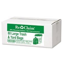Webster EarthSense Commercial Large Trash and Yard Bags (Case of 80)