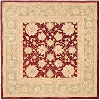 Safavieh Handmade Anatolia Oriental Red/ Green Hand-spun Wool Rug - 8' x 8' Square