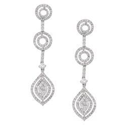 18k White Gold 1 5/8ct TDW Diamond Cascade Earrings (H-I, I1-I2)