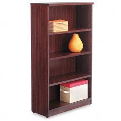 Alera Valencia Series 4-Shelf Dark Brown Bookcase