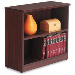 Alera Valencia Series 2-Shelf Dark Brown Bookcase