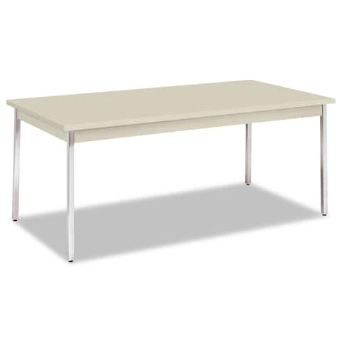 HON Utility Table with Chrome Legs, Light Gray - 72 x 36 x 29