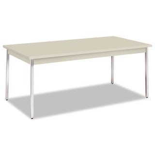 HON Utility Table with Chrome Legs
