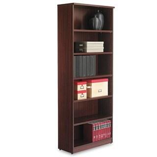 Alera Valencia Series 6-Shelf Dark Brown Bookcase
