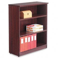 Alera Valencia Series 3-Shelf Dark Brown Bookcase