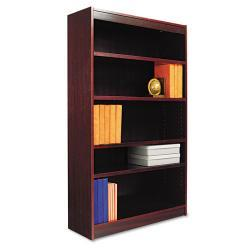 Alera Square Stylish Corner Bookcase with Finished Back