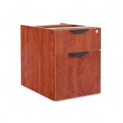 Alera Valencia Series Wooden Three-Quarter Pedestal File